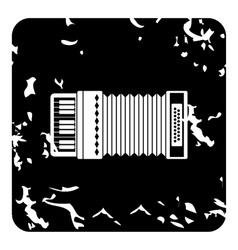 Accordion icon grunge style vector