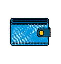 Blue wallet to save money vector