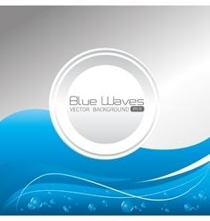 Blue waves design vector image vector image