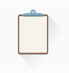 clipboard icon in flat style vector image