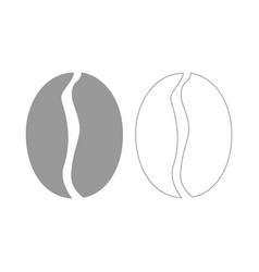 Coffee bean the grey set icon vector