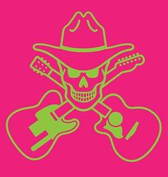 Cowboy Skull Design vector image