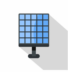 Electric solar panel icon flat style vector