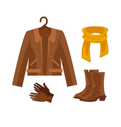 Elegant clothes and accessories vector