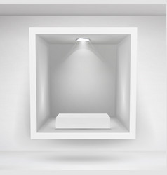 Empty niche realistic clean shelf niche vector