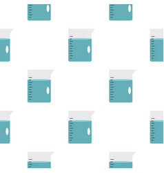 Glass pitcher of water pattern seamless vector