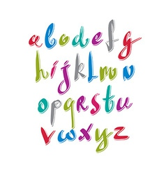 Hand written fresh font stylish drawn alphabet vector