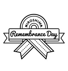 hiroshima remembrance day greeting emblem vector image vector image