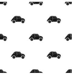 italian retro car from italy icon in black style vector image