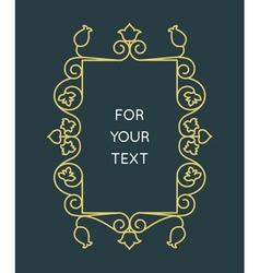 Linear monogram - frame for text vector