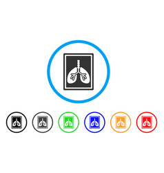 Lungs fluorography rounded icon vector
