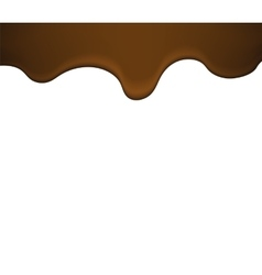 melted liquid chocolate vector image