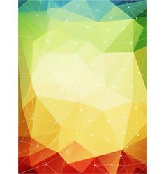 multicolored geometric pattern warmen farben vector image vector image