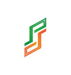 ps letter logo vector image