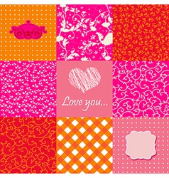 Set of lovely backgrounds vector image vector image