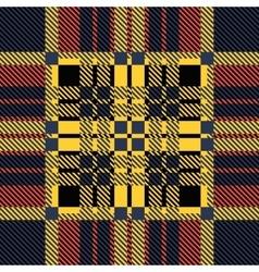 Set seamless British tartan pattern Plaid brown vector image