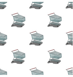 Shopping cart icon in cartoon style isolated on vector