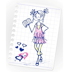 sketch school vector image vector image