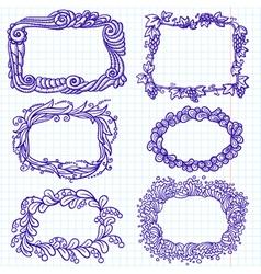 sketchy doodle frames vector image vector image