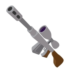 Sniper rifle cartoon icon vector
