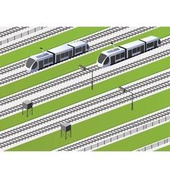 The railway vector image vector image