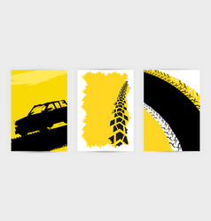 Tire poster background vector