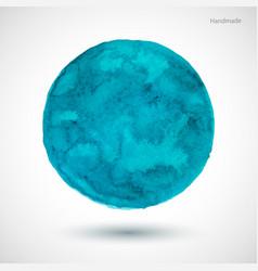 Watercolor-turquoise-blot vector