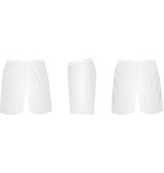 white shorts template vector image