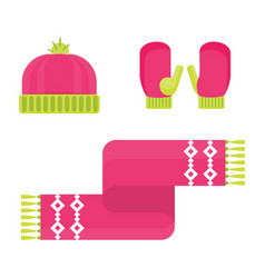 winter warm accessory vector image