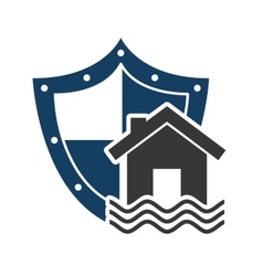 Home insurance property concept icon vector