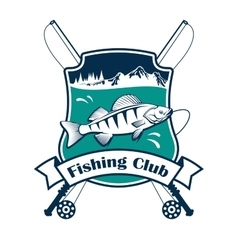 Fishing sport club sign vector