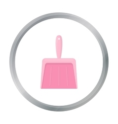 Dustpan cartoon icon for web and vector image