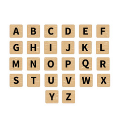 Word puzzling game tiles vector