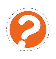 Question mark communication image vector