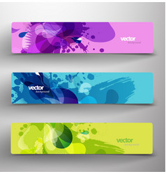 Set of three abstract colorful headers vector