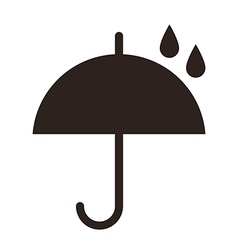 Umbrella with raindrops vector image