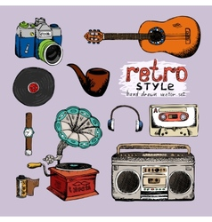 Hipster style music and photo vector