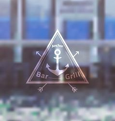 Logo template for sea fooda bar grill restaurant vector