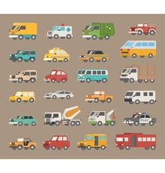 Set of car icon vector