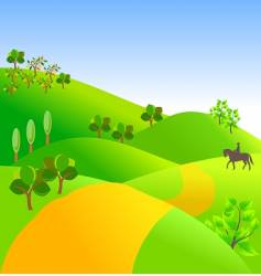 Landscape with trees vector
