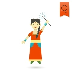 Diwali indian festival icon vector