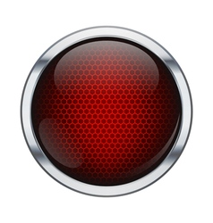 Red honeycomb icon ball vector