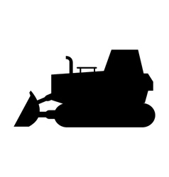 Excavator on white background vector