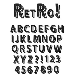 Retro grunge alphabet vector