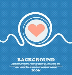 Heart love sign icon blue and white abstract vector