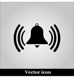 Ringing bell on grey background vector