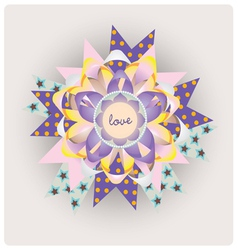 Magic love paper jewelry vector image
