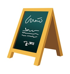 A menu is placed vector image vector image