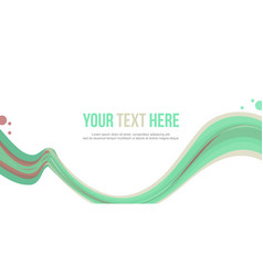 Abstract header wave green design collection vector