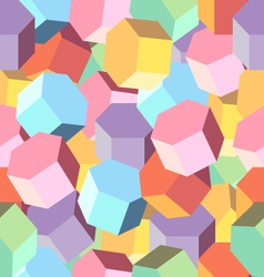 Background multi colored rhombus vector image